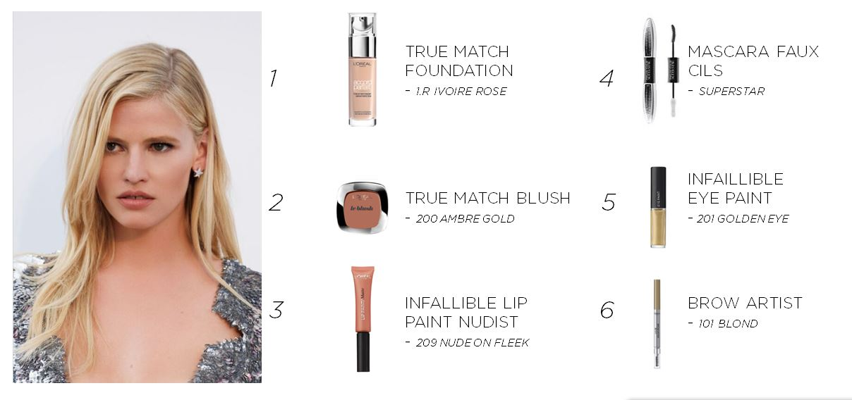 Get Lara's perfectly nude look with these L'oreal products!