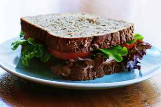 a sandwich made with multigrain bread, just like the people crave