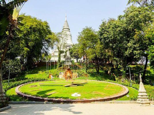 a garden in phnom pen, cambodia