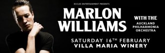 marlon williams and acukland philharmonic orchestra poster