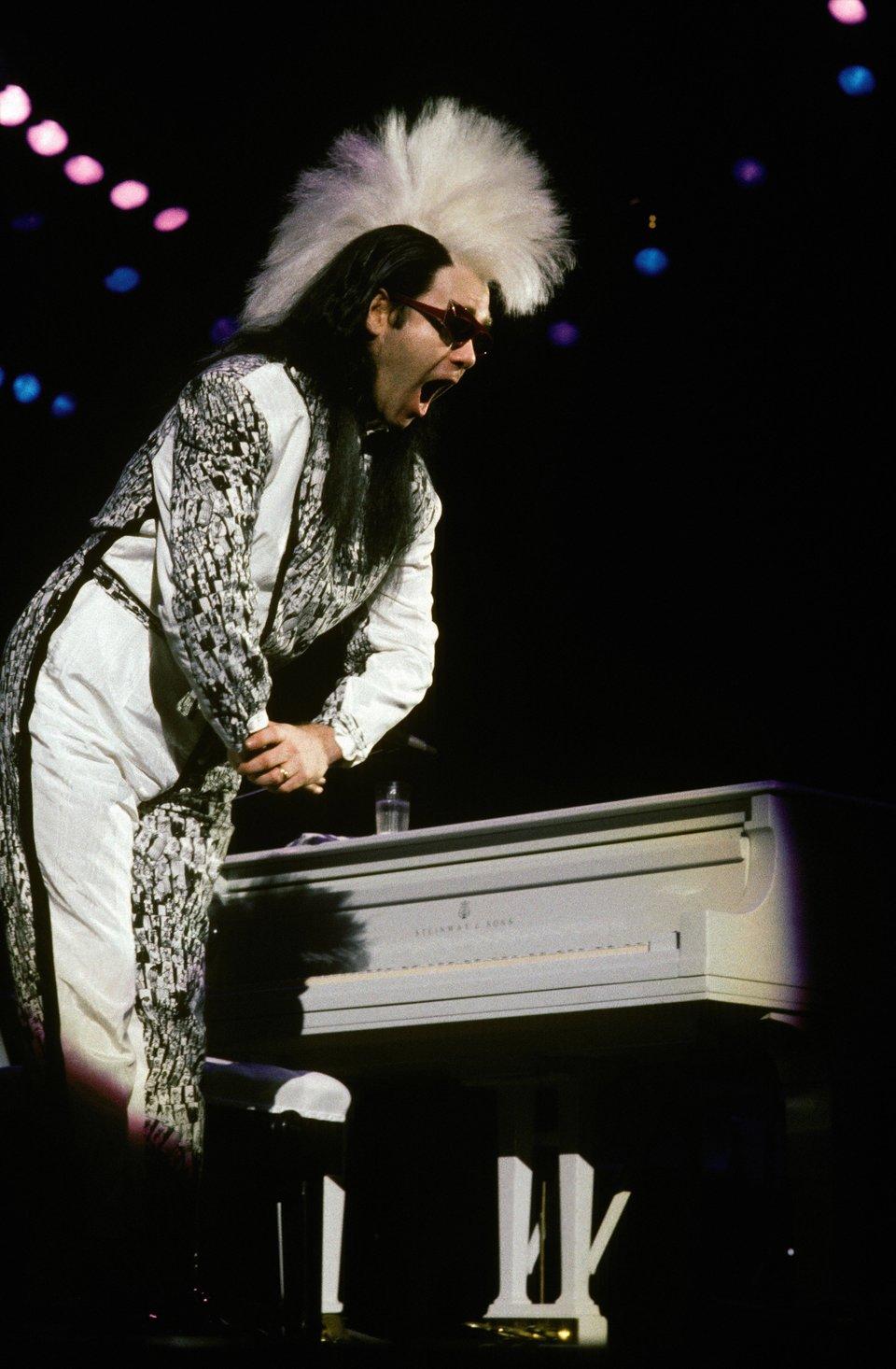 Elton John At Paris Bercy Concert Hall