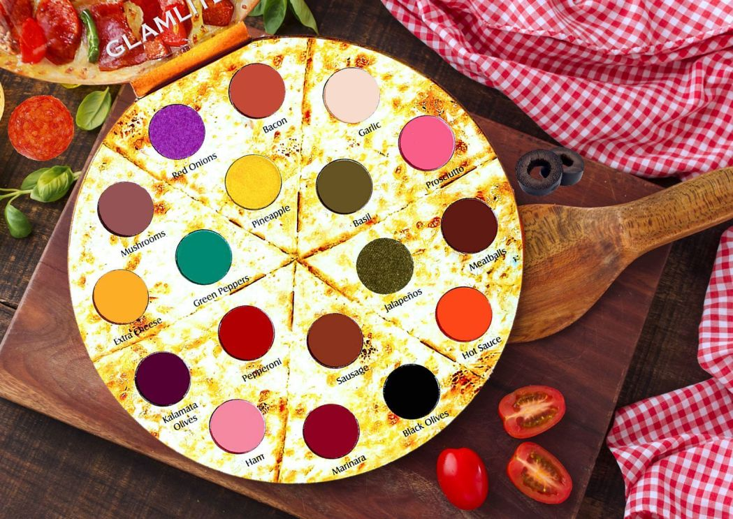 Pizza palette on chopping board
