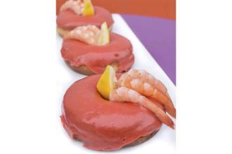 Shrimp cocktail donuts