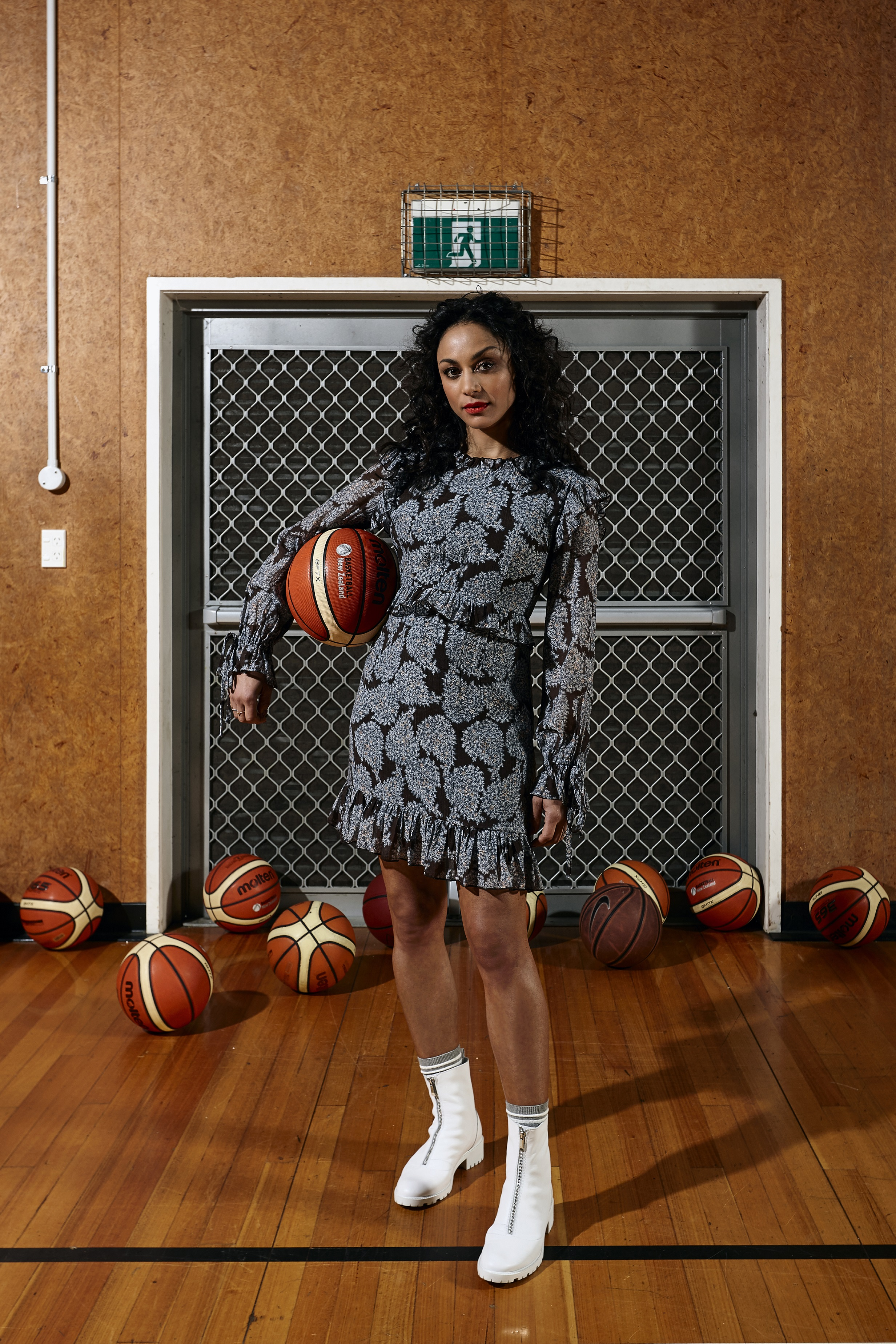 LEO+BE Autumn 20 campaign featuring Sonia Gray_Bench Dress, RRP$159.00