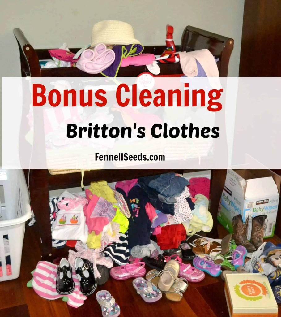Bonus Cleaning - Daughter's Clothes