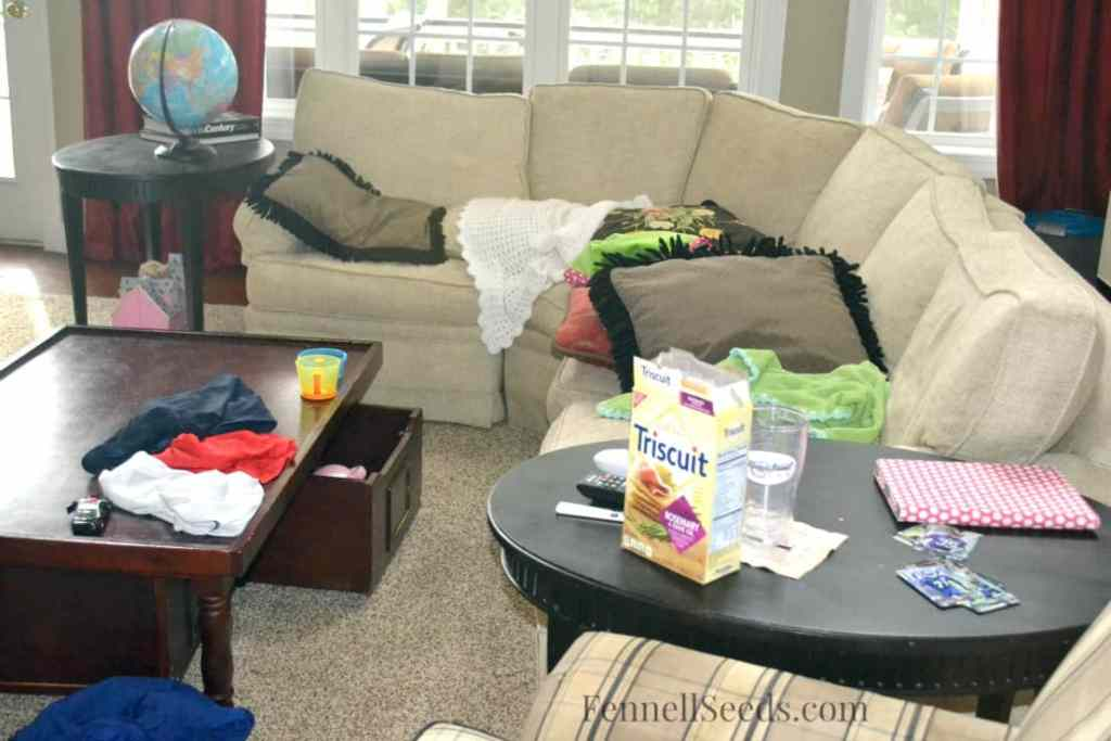 1 Week Challenge Family Room During