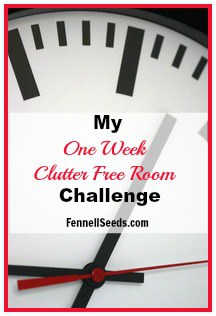 One Week Clutter Free Room Challenge