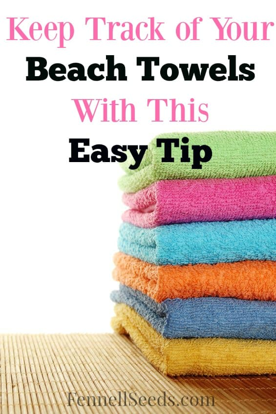 I kept leaving beach towels at the pool until I came up with this solution. Now I can quickly scan the area and find the towels that belong to us.