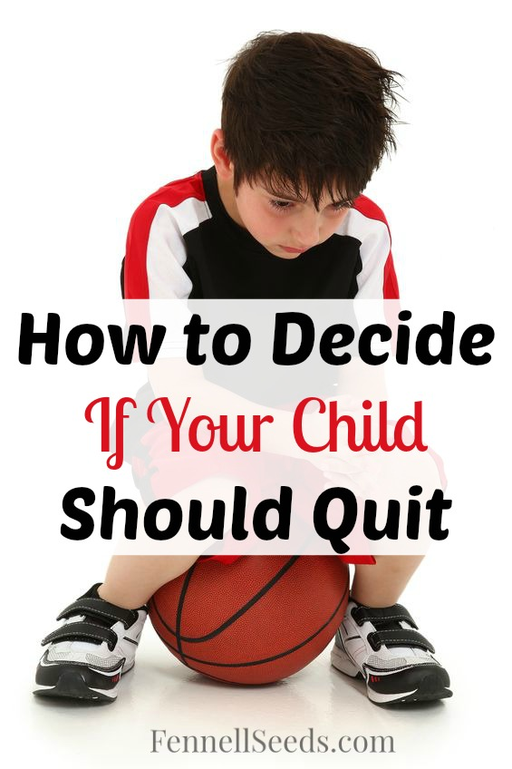 Is your child no longer liking their sport or activity? How to decide if your child should quit. Here are 2 situations where we had to make this decision and our results.