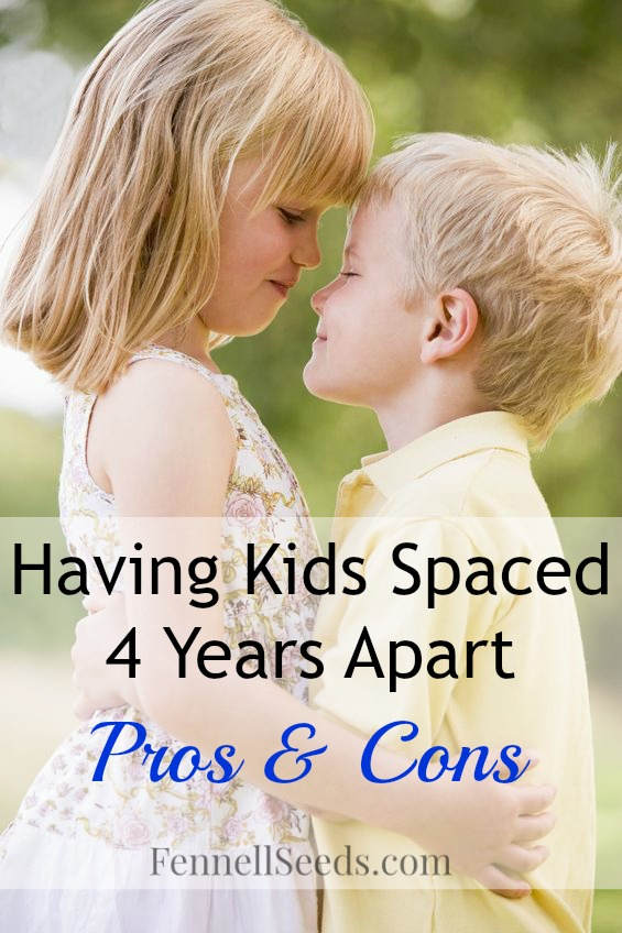 Kid Spacing | Kids 4 Years Apart | Sibling Spacing | My list of pros and cons of having siblings 4 years apart in age. Here are my thoughts on the positives and negatives to having children 4 years apart in age.