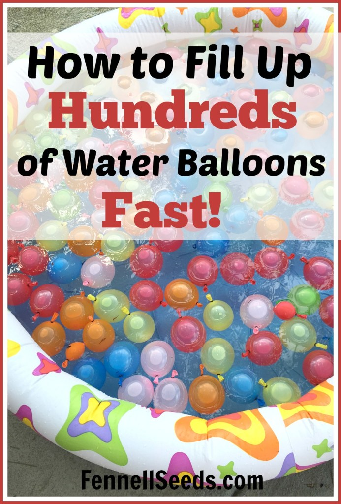 We had an easy water balloon party. It is amazing that it only takes 2 minutes to inflate hundreds of water balloons. Whoever invented this product was a genius.