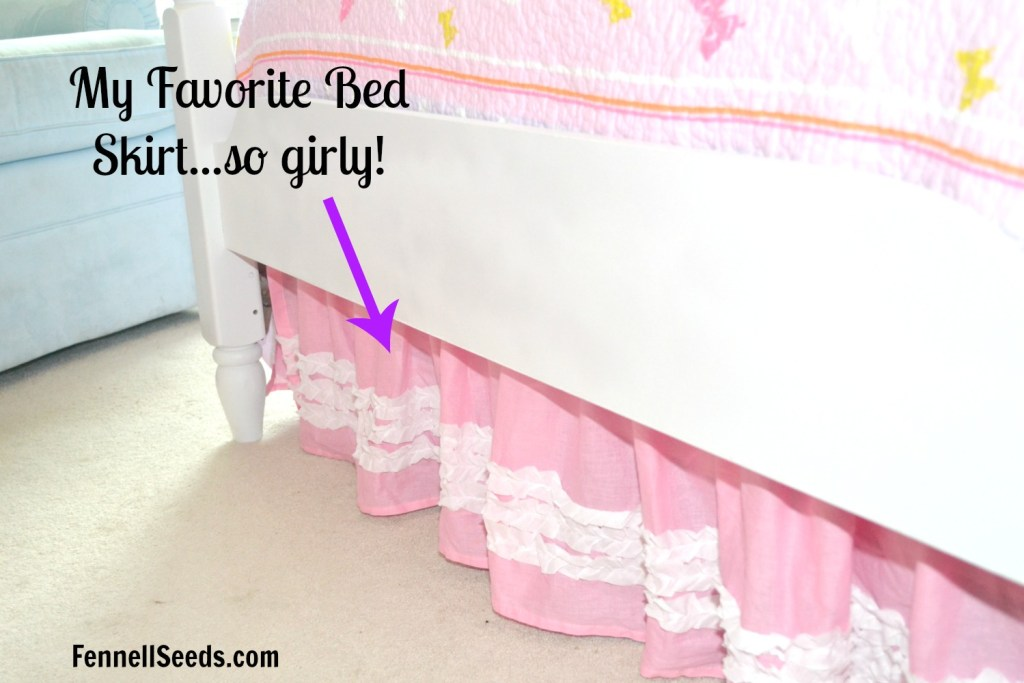 I love this little girls bedding and bed skirt. It was inexpensive too but great quality.