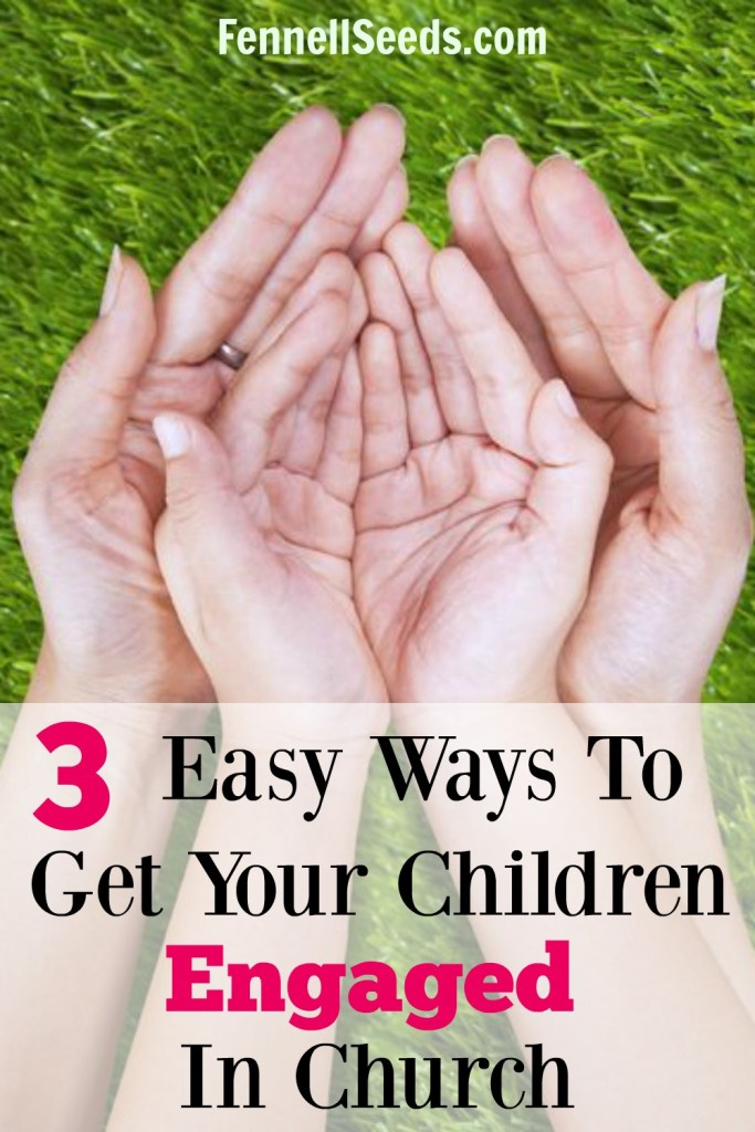 3 Easy Ways to Get Your Children to Engage In Church. Ever look over at your children and see them totally disengaged at church? Number 1 works really well with my kids.