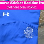 How To Get Sticker Residue Off Clothes After Going Through The Wash.