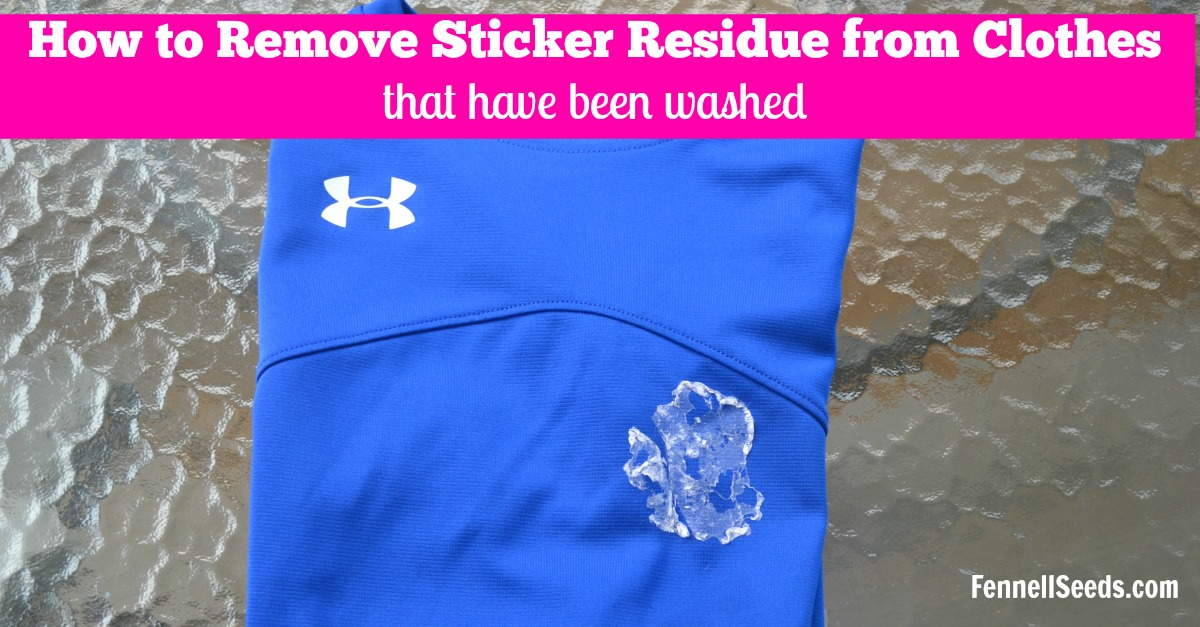 How to remove sticker residue from your clothes after they are washed. I  have tried