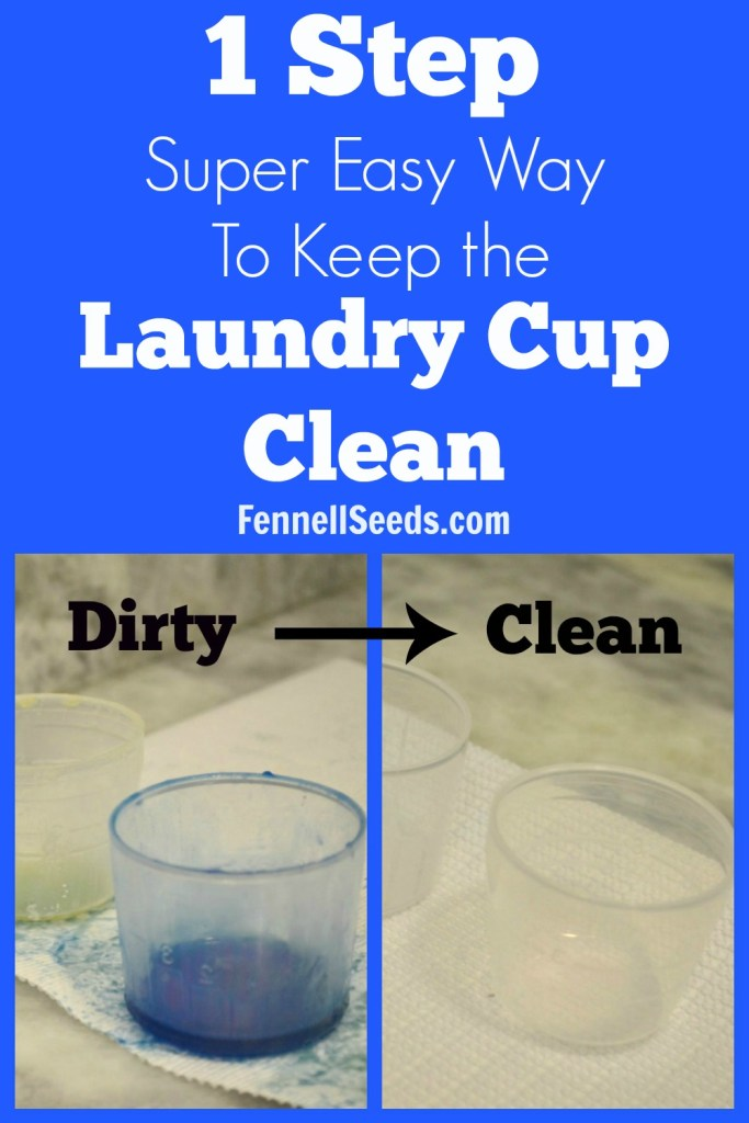 A way too easy laundry tip. How to keep the detergent cup clean. No mess, no fuss, one step fix to keep the laundry cup clean. Why in the world did I not know this!