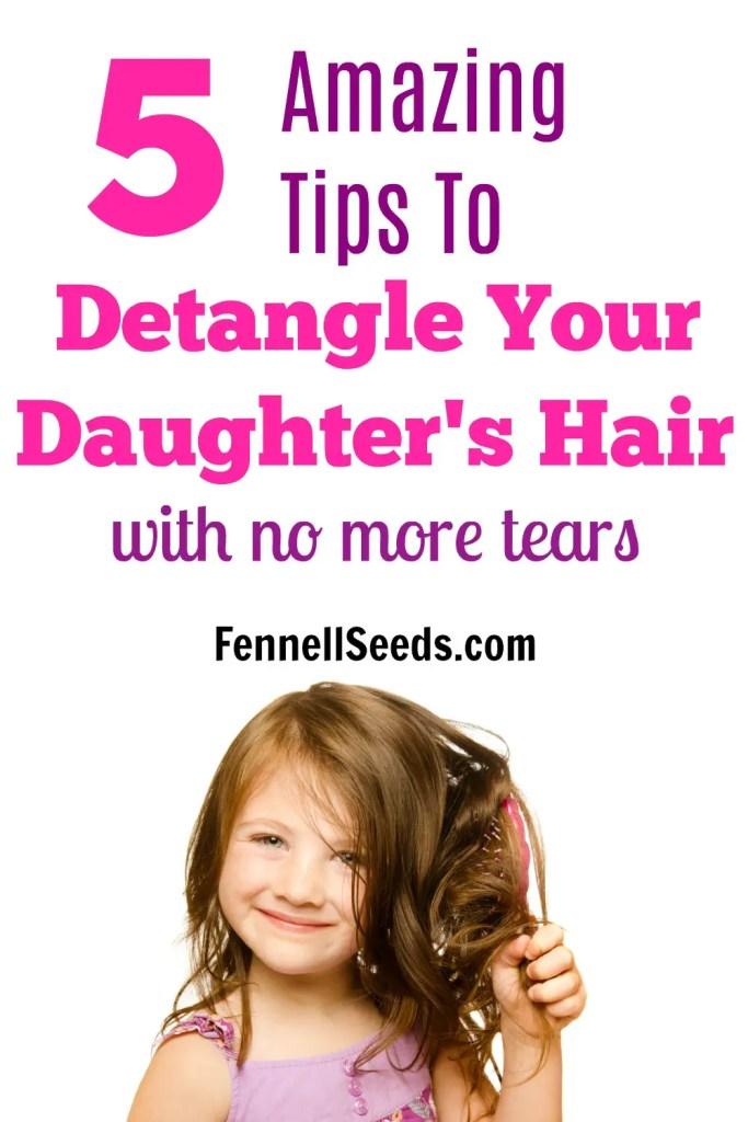 How to Detangle Hair   How to Untangle Hair   Crying while Combing Hair   Detangle Hair   Girl's Hair