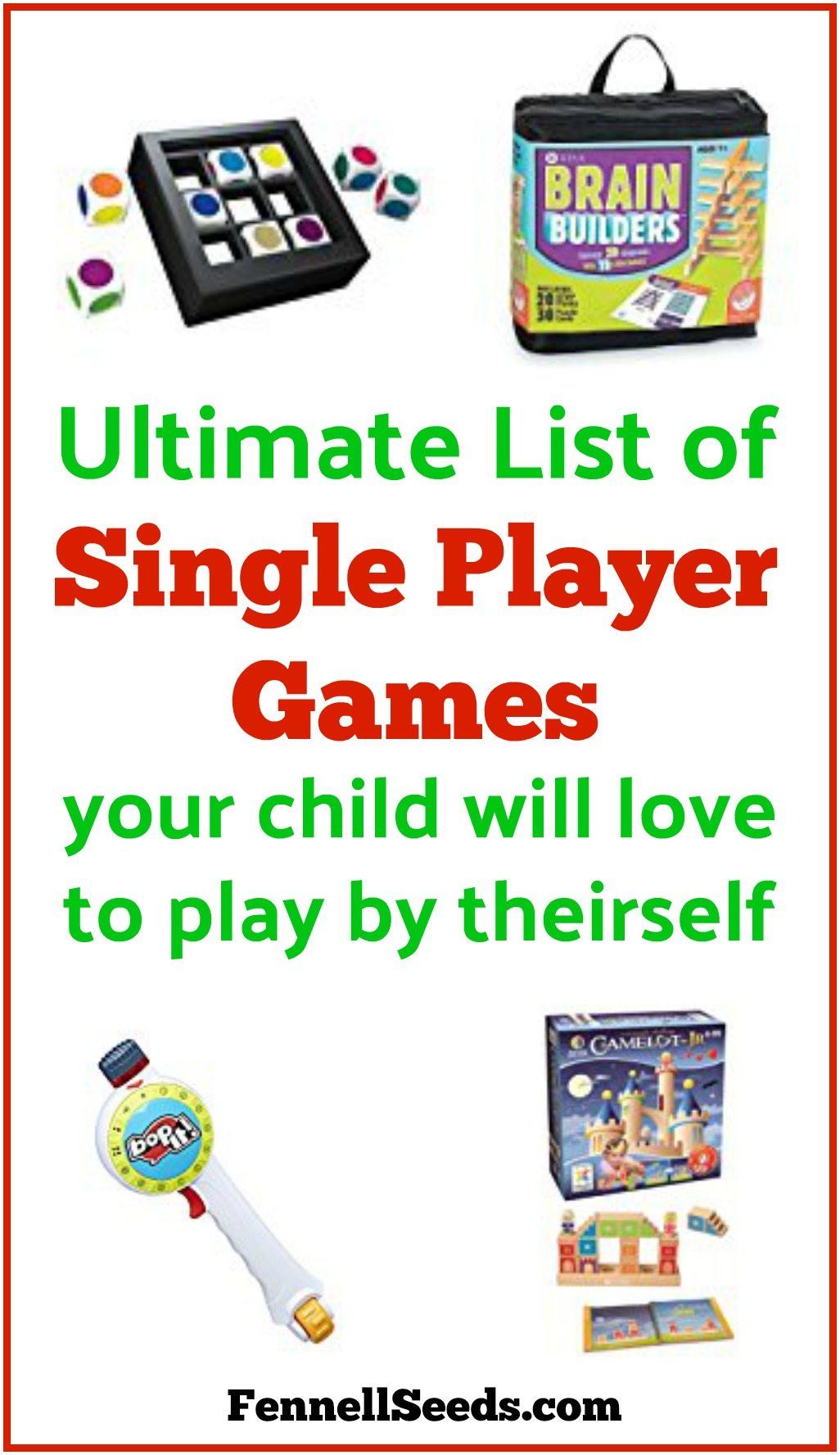 Single player games | Games for 1 person | Games for 1 player | Games for only children | 1 player games | #giftguide #toys