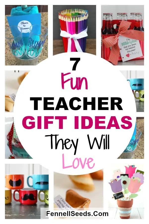 Fun and Easy Teacher gifts   teacher gift ideas   End of year Teacher Gifts   Teacher appreciation gift