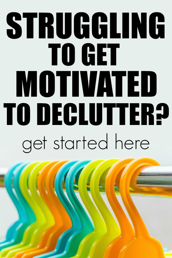 How to get started decluttering. | motivated to declutter | getting organized | organized home