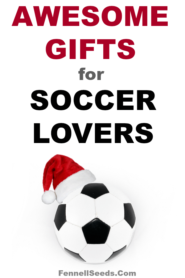 My kids all play soccer and love soccer themed gifts. Gift Guide for Soccer   Gifts for Soccer Lovers   Soccer Gifts