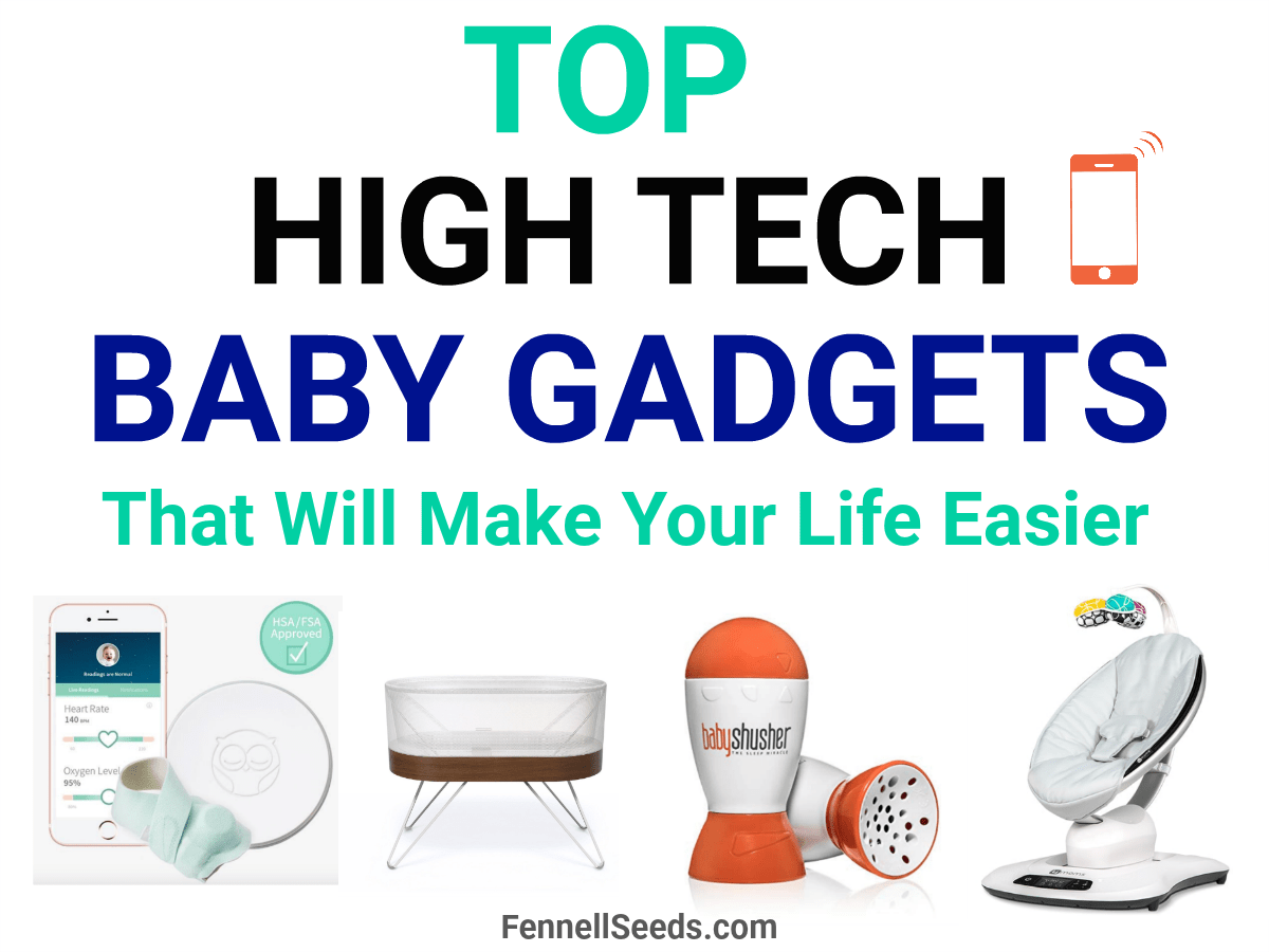 High tech baby gadgets can make life with a newborn so much easier. Here are the top baby technology items to help you.