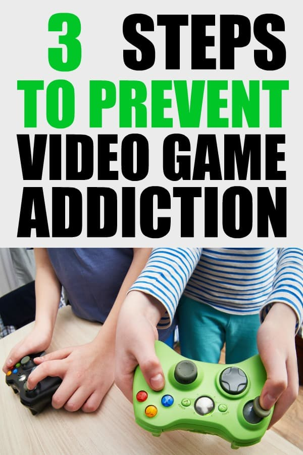 3 Steps to stop video game addiction for kids. Are your kids addicted to video games? Here is help and some prevention techniques. #videogames #videogameaddiction