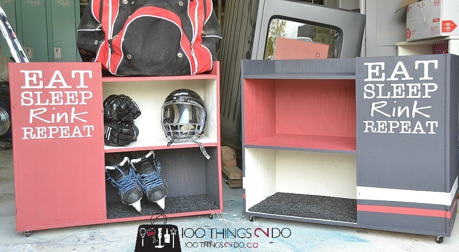 Hockey equipment storage   Garage organization   Sports Equipment Storage Ideas   sports equipment organization