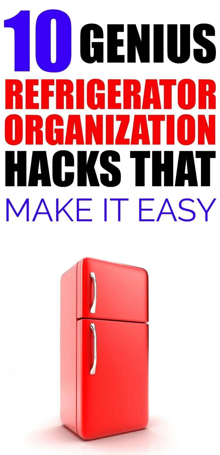 10 Easy Refrigerator Organization Hacks That Make It Easy To Find Everything. #kitchenorganization #refrigeratororganization
