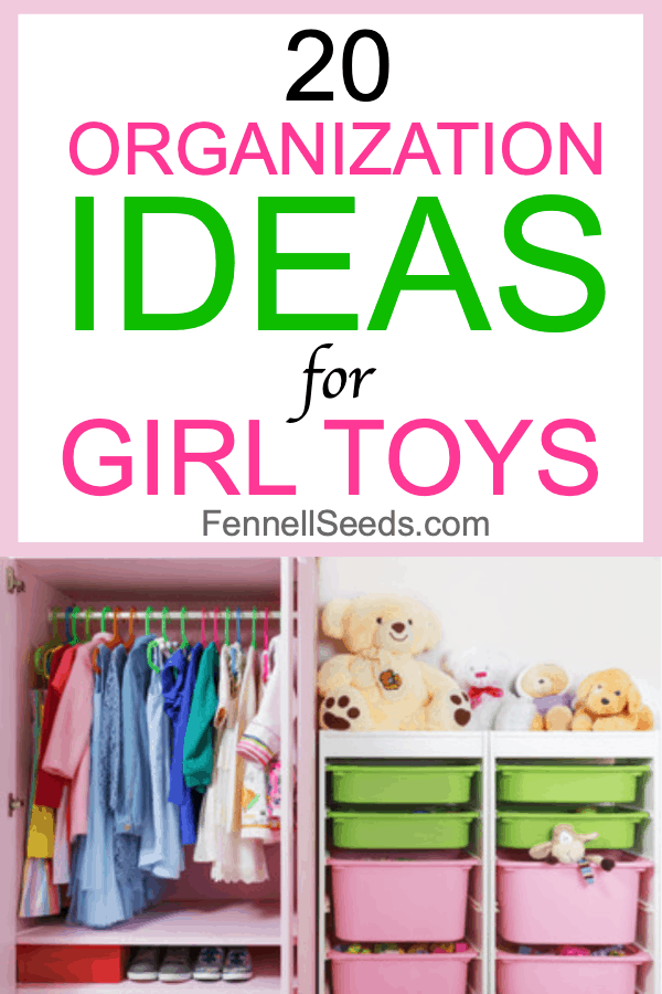 How to organize girl toys. I love all these ideas for DIY toy storage especially for girl toys. #toyorganization #toystorage #girltoys