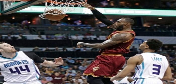 LeBron, cerca de triple doble y Cleveland vence Charlotte