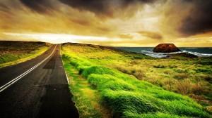 Beach-Clouds-Wind-Road