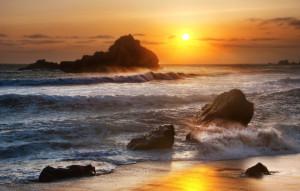 sun and rocks