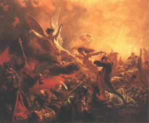 Mihály_Zichy_The_Triumph_of_the_Genius_of_Destruction_1878