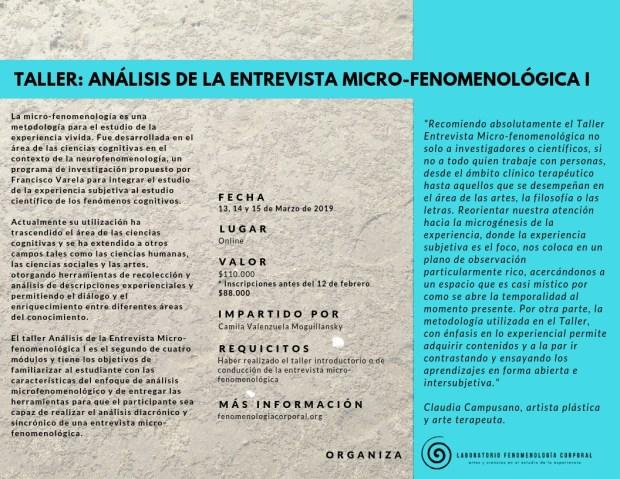 Módulo 2 Formación entrevista microfenomenológica