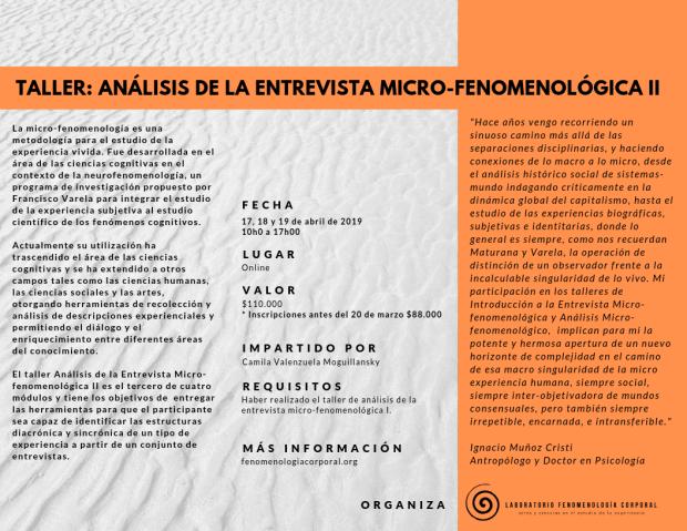 Módulo 3 Formación entrevista microfenomenológica