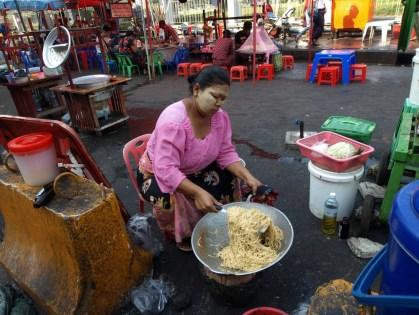 Yangon, dans le quartier colonial