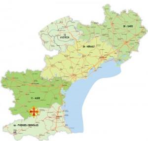 Carte Languedoc Roussillon.Carte Languedoc Roussillon Fenouilledes