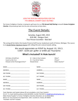 2013 Golf Team Registration
