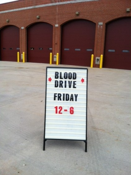 2013 Red Cross Blood Drive at the Fenton Fire Department