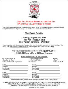 2014 Golf Outing Signup PDF