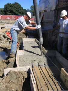 Rail Spread Footings and Concrete Pumping