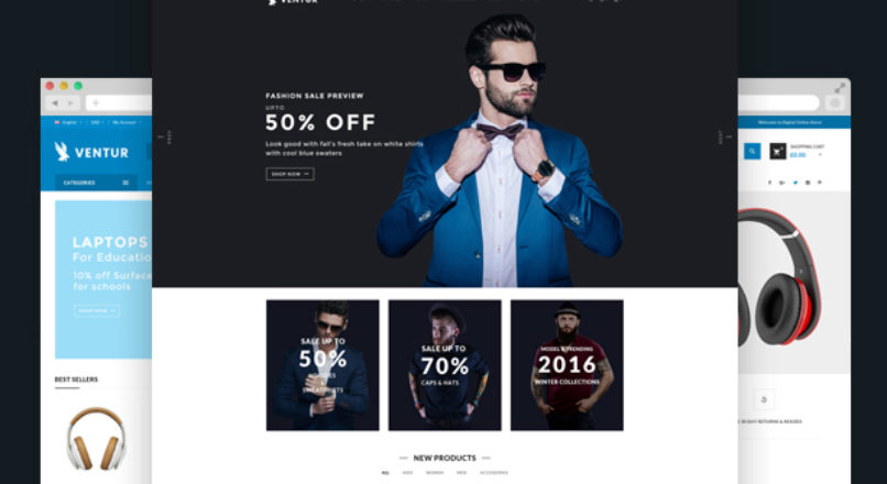 Ventur — Fashion OpenCart Theme (Included Color Swatches)