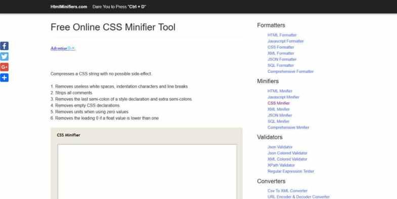 30 самых удивительных инструментов для CSS-Минимизации