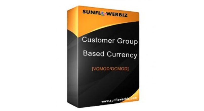 Customer Group Based Currency [vqmod/ocmod]