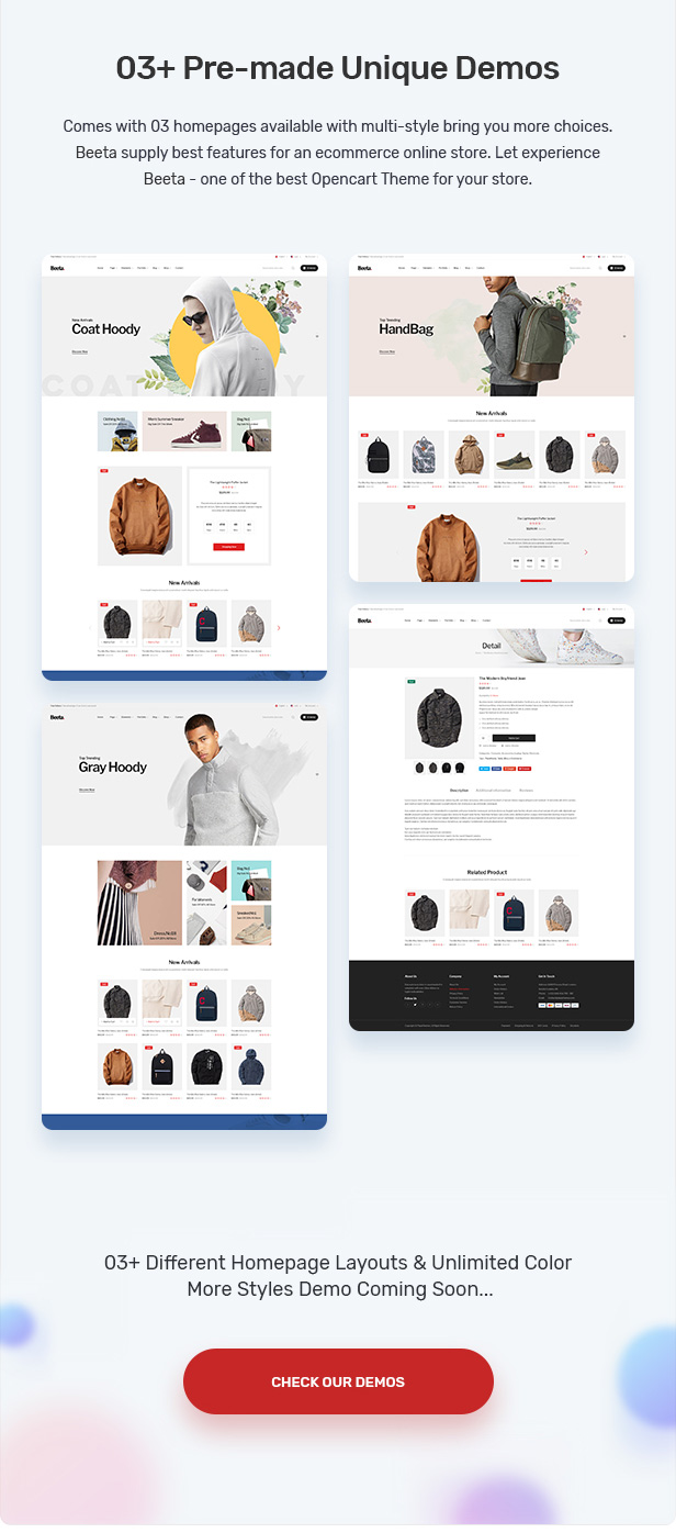 Beeta - Fashion OpenCart Theme (Included Color Swatches)