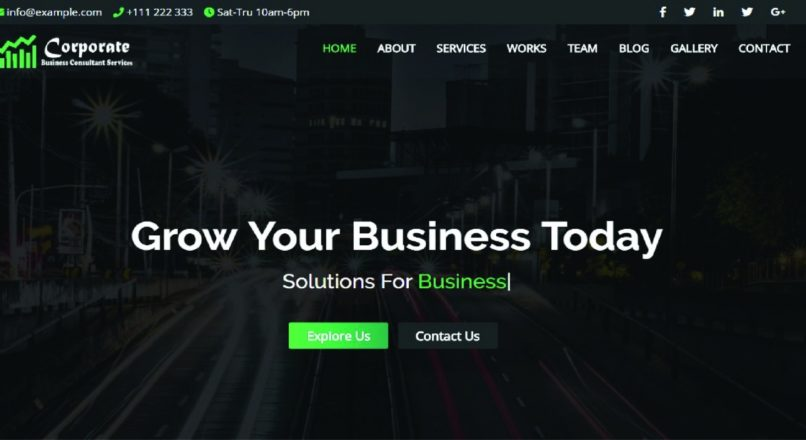 Corporate — Business and Portfolio Template