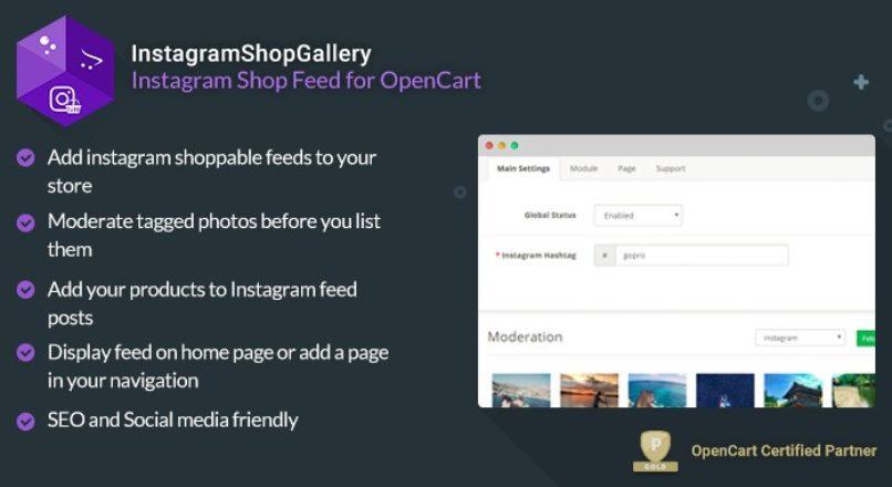 InstagramShopGallery 3.1.1 — лента Instagram с возможностью покупки для OpenCart 3