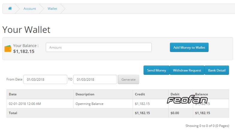 Smart E Wallet - Opencart Plugin