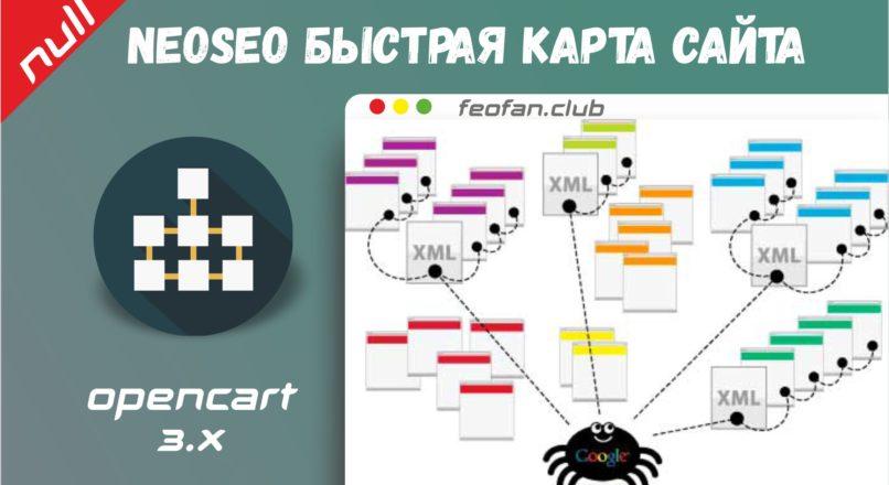 NeoSeo Быстрая карта сайта Sitemap.xml